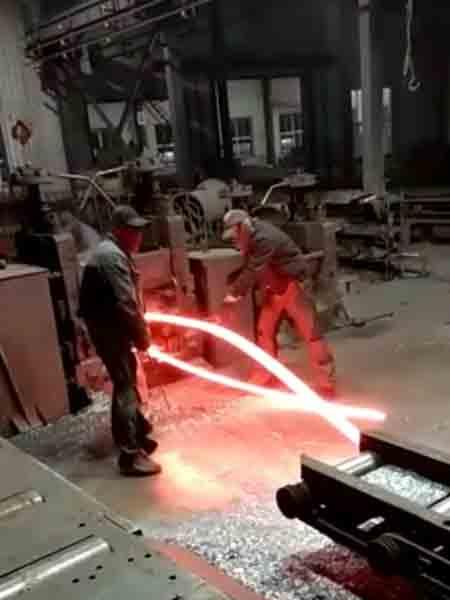 任丘启运热轧异型扁钢生产流程视频